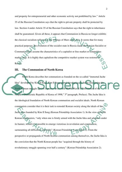 Good Synthesis Essay Topics Communism In North Korea Compared With Russia Sample Essay With Thesis Statement also What Is A Thesis Statement For An Essay Communism In North Korea Compared With Russia Essay Synthesis Essays