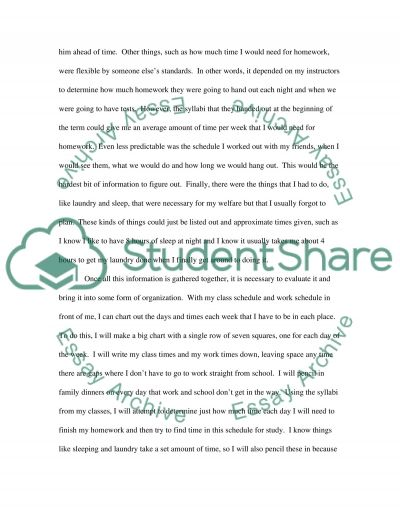 Improving Time Management essay example