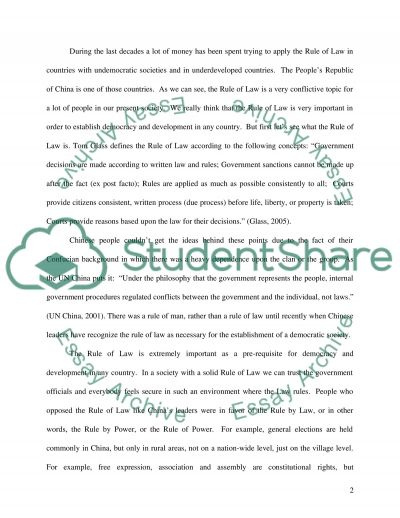The rules of law essay example