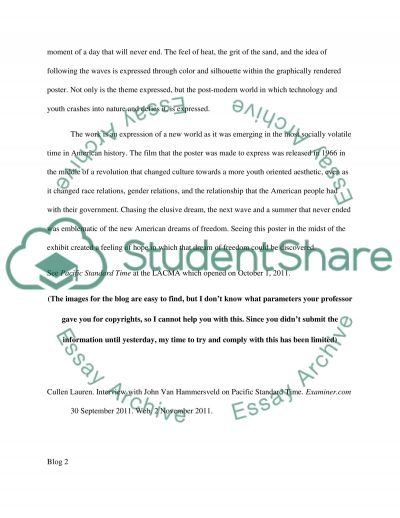 blog assignment example