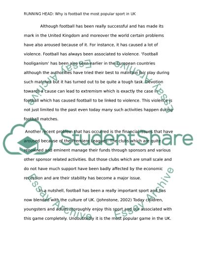 essay about football Free essay: thesis statement what does jovan belcher, ray esterling and oj murdock have in common they all were famous football players who commented.