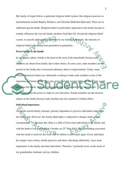 Culture Exercise essay example