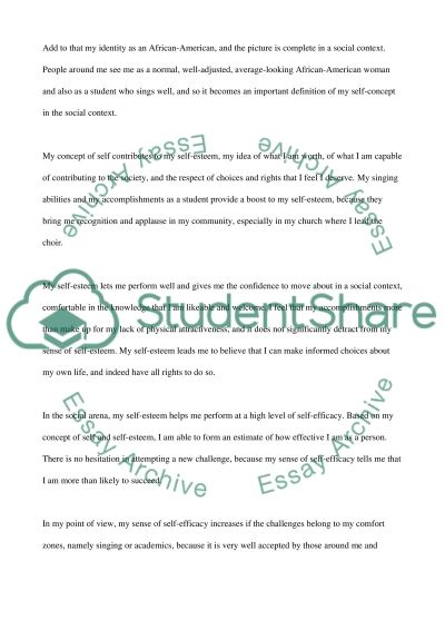 Personal Reflection Paper on The Self essay example