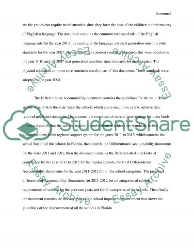 The Next Generation Sunshine and Standards essay example