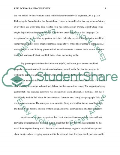 Reflection based on review and conduct another paragraph