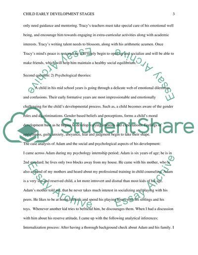 essay on child development stages