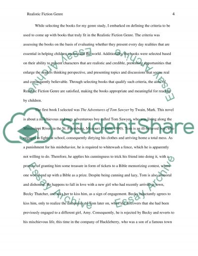 Realistic Fiction Genre Study essay example