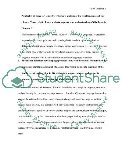 Essay Question Rewrite