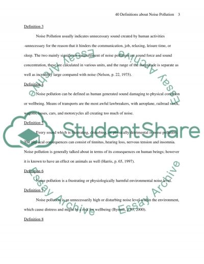 40 Definetions essay example