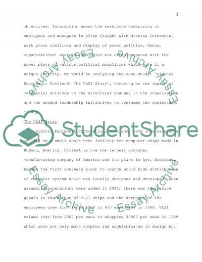 organisation environment essay