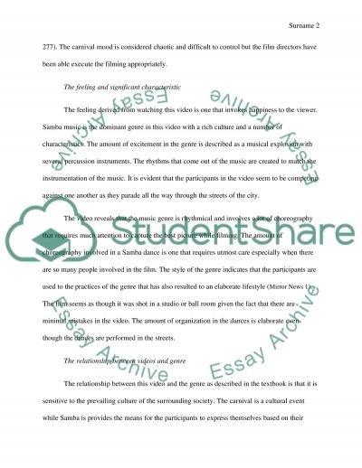 Video Analysis Paper Essay example