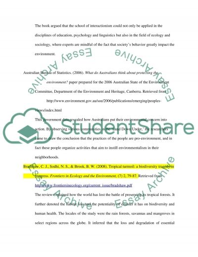 Bibliography on Human Impact on Global Warming essay example