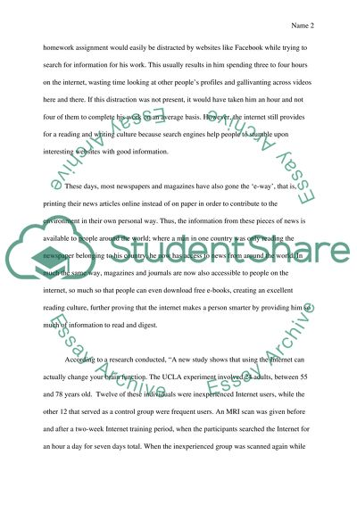 distraction essay examples