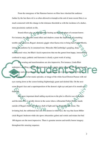 Example Of Thesis Statement In An Essay Descriptive Essay On The Movie The Exorcist What Is A Thesis In An Essay also Writing Essay Papers Descriptive Essay On The Movie The Exorcist Example  Topics And  Thesis For An Essay