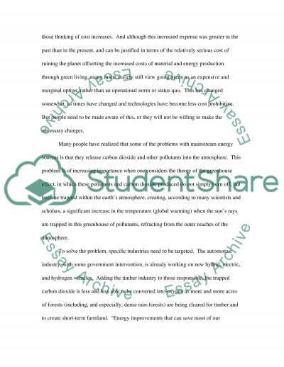 Persuasive paper: How to prevent greenhouse effect