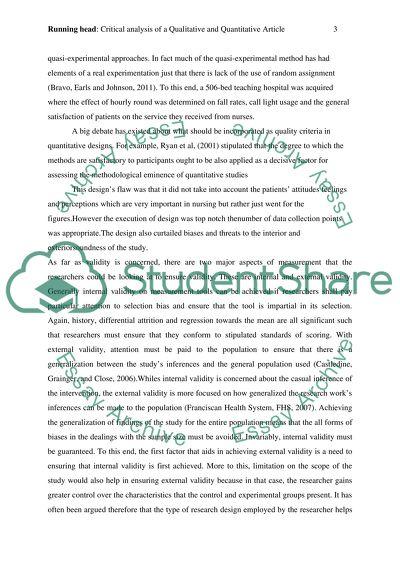 Critical analysis of Qualitative paper