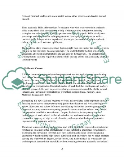 Research and Academic Skills Essay example