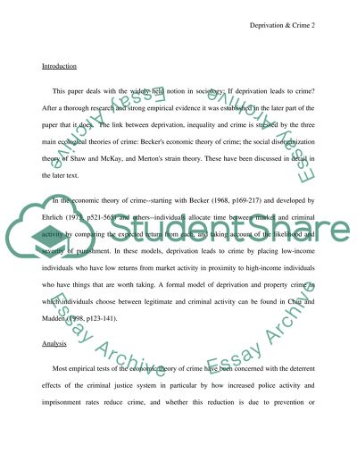 reduce crime essay