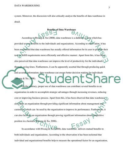 essay on data analytics