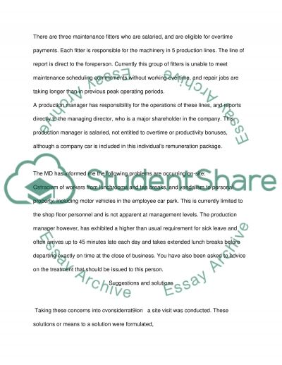 Management Fundamental Case Study essay example