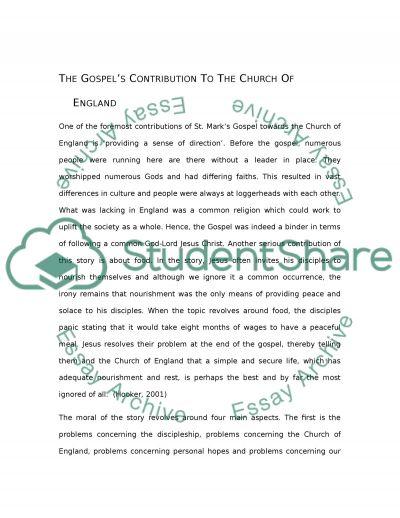 St. Marks Gospel essay example