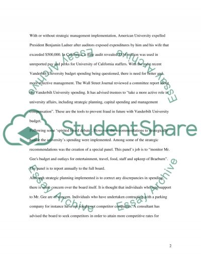 Strategic Management functions essay example