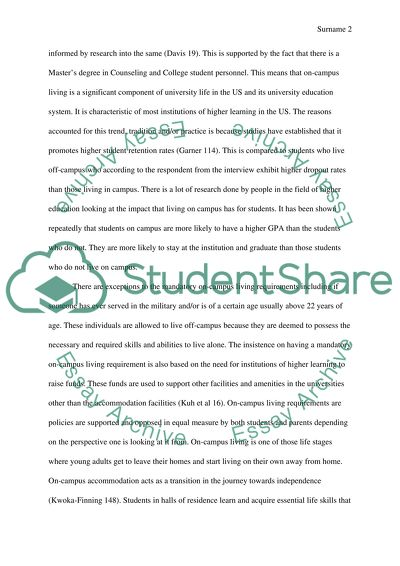 Adults living with parents essay
