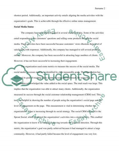 Social Media Marketing Plan essay example