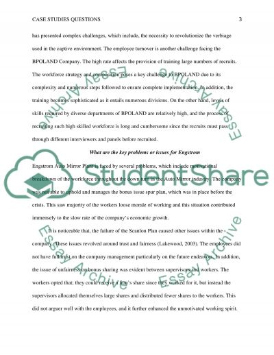 Case studies questions essay example