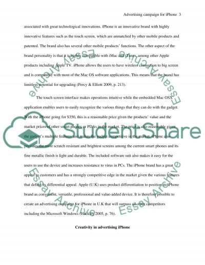 Report: Advertising campaign of an existing product/service on your choice essay example
