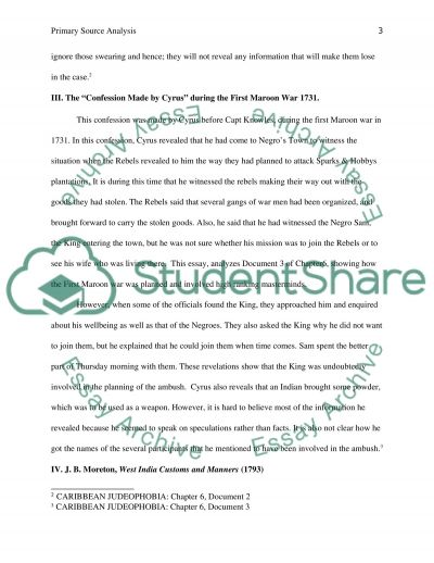 Primary source analysis essay