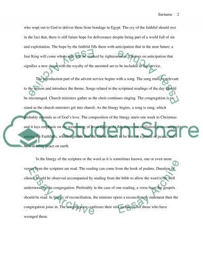 Theology essay example