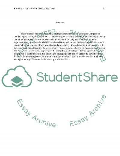 Marketing Strategy Analysis 1 essay example