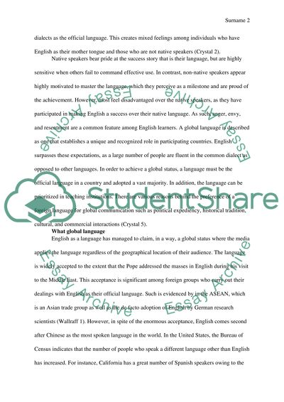 Jane Eyre Essay Thesis  Essay About Paper also Personal Essay Examples For High School English As A Global Language Essay Example  Topics And Well  Proposal Essay Topics List