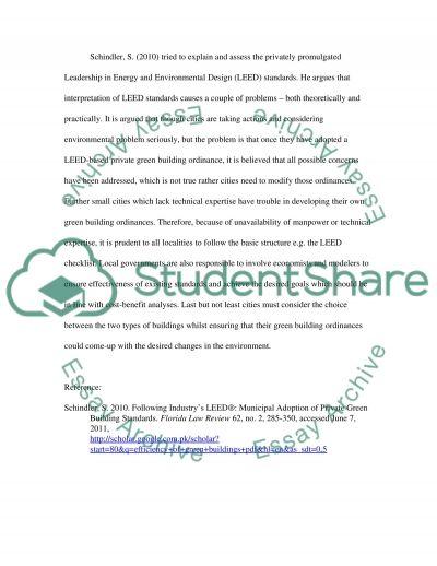 Green buildings essay example