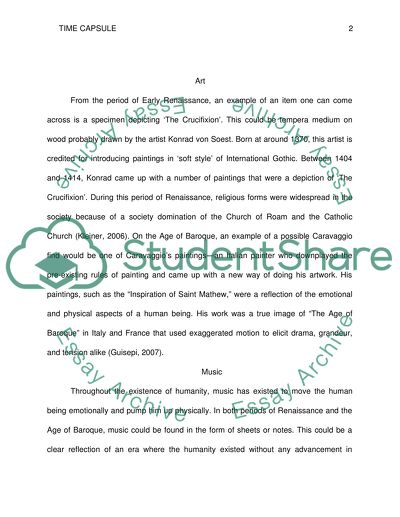 Yellow Wallpaper Analysis Essay Time Capsule Read Textpreview Health Is Wealth Essay also Controversial Essay Topics For Research Paper Time Capsule Essay Example  Topics And Well Written Essays   Words Synthesis Essay Tips