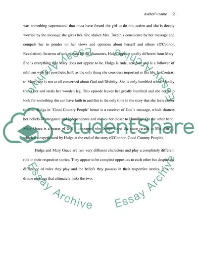 Essay On High School Revelation And Good Country People By Flannery Oconnor Persuasive Essay Topics High School also My English Class Essay Revelation And Good Country People By Flannery Oconnor Essay Example Of An Essay Proposal