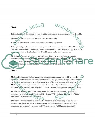 Organisational Structure and Design Analyses McDonalds essay example