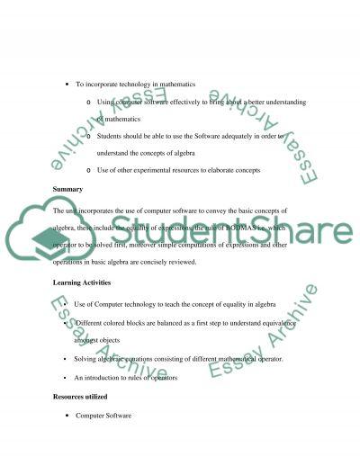 Learning Mathematics essay example