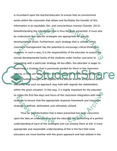 Autobiographical Essay  Self Introduction Essay also Argument Essay Topics For High School Classroom Management Strategies Essay Example  Topics And  Performance Management Essay