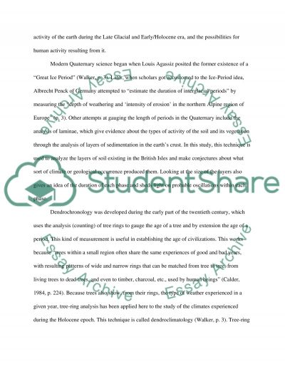 The Quaternary period essay example