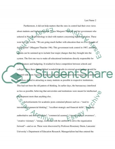 Widening Participation In Higher Education Policy essay example