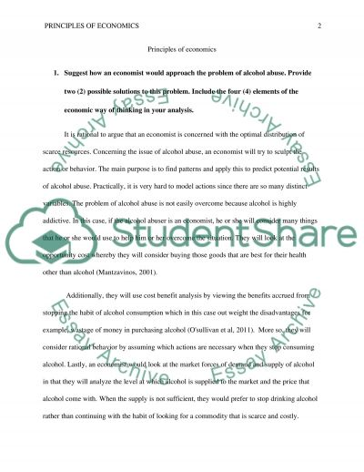 Principles of Economics essay example