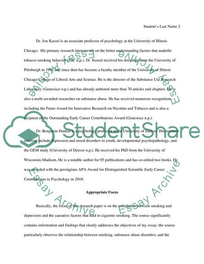 Source evaluation essay about smoking