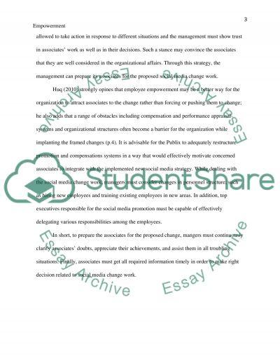 Empowerment essay example