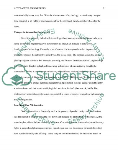Total cost minimization essay example
