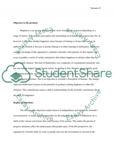 chose one argument and write about it Essay example