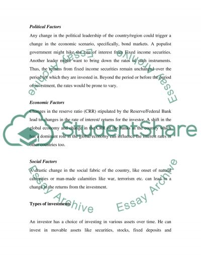 Finance College Essay essay example