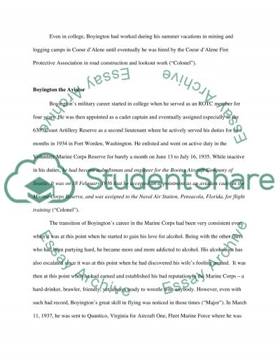 Gregory Pappy Boyington and the Black Sheep Squadron essay example