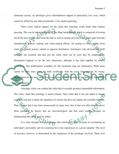 Essay about Astrology essay example